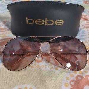🐺 NWOT Bebe Aviator Sunglasses 🐺